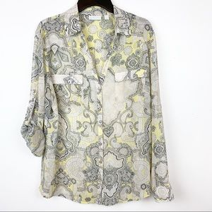 NY & CO LIGHTWEIGHT BUTTON DOWN. SIZE XL